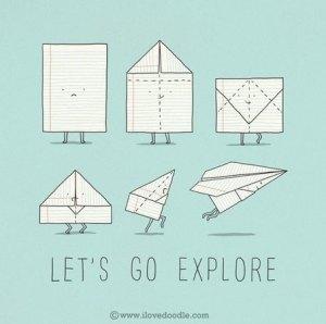 lest go explore illustration
