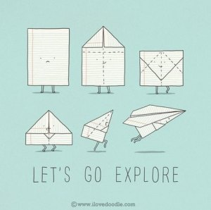 lest go explore illustration