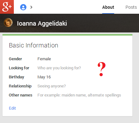 google+ info obsession
