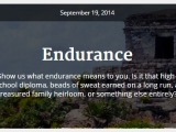 Weekly photo challenge: Endurance -or in my case-Resistance